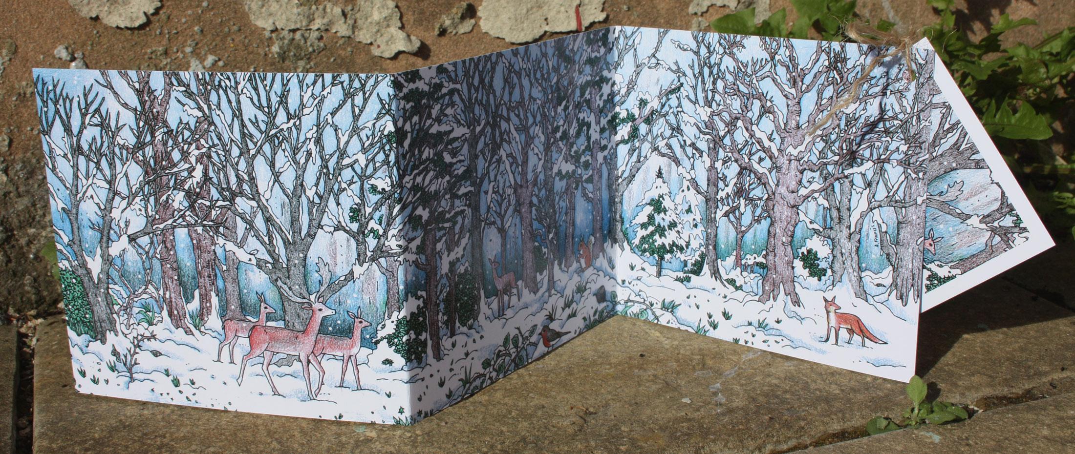 Deep in Winter concertina card