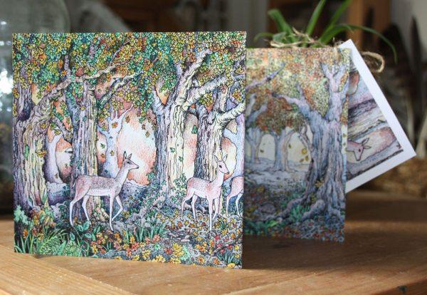 The Woodland Edge Concertina Card