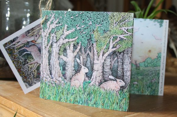 The Woodland Edge Concertina Card