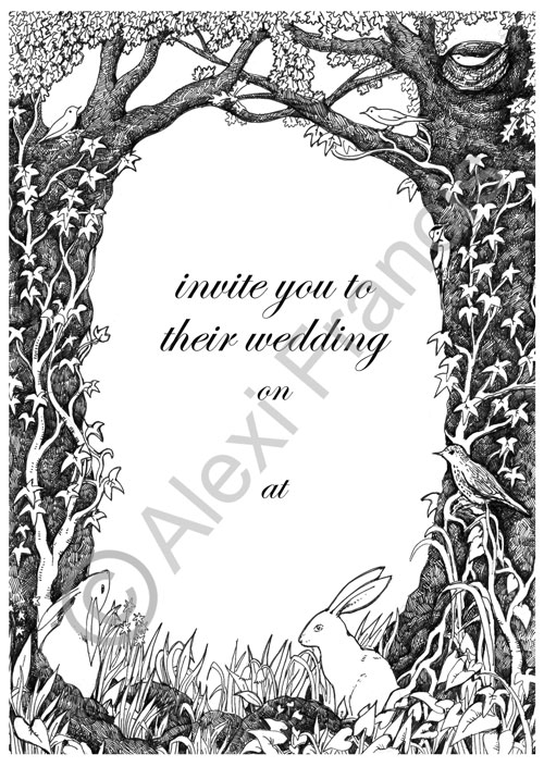 Woodland Wildlife Wedding Invitation